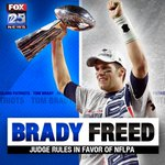 BRADY FREED! Judge nullifies NFLs 4-game suspension: http://t.co/9iCT1IZnPm http://t.co/xqUwVxs2BP