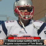 Judge nullifies Tom Bradys 4-game suspension, he is now eligible to play Wk 1 vs Steelers. More on @nflnetwork NOW http://t.co/cq3eSgZi3R