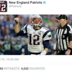 Best Thing on Twitter Today: The Patriots had the perfect response to Tom Bradys 4-game suspension being overturned. http://t.co/Fsof1NFXRV