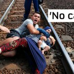 Refugees lay on the tracks at Hungarys Bicske rail station in fear of being taken to camps http://t.co/8KgsGi7qDB http://t.co/tsfgrhoLQL