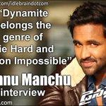 RT @idlebraindotcom: Interview with Vishnu Manchu http://t.co/bHsY8FWsGs #Dynamite  @iVishnuManchu