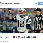 The Patriots tweet out their response to Tom Bradys suspension being nullified. http://t.co/FO9VT0LYm4