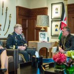 Photo: His Majesty King Abdullah II meets with U.S. Army Chief of Staff, Gen. Mark A. Milley #Jordan #JO http://t.co/1eqLo3pQiH