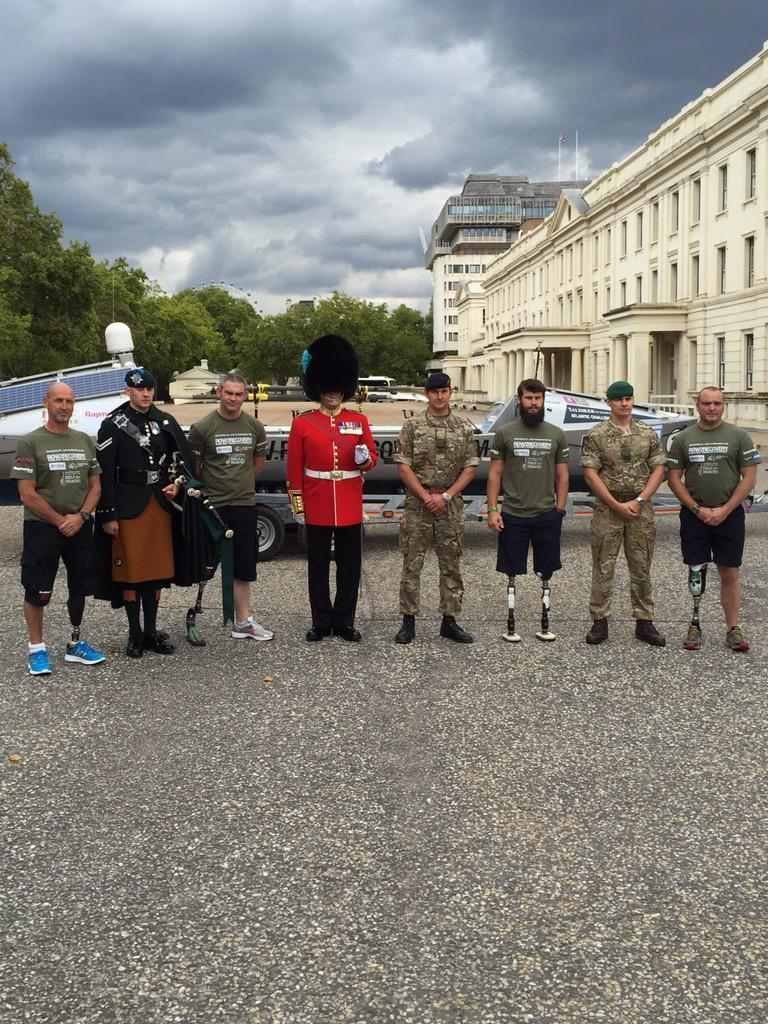 May we present our all-amputee Atlantic crew. Nigel Rogoff, Lee Spencer, Cayle Royce & Paddy Gallagher. #BeyondInjury http://t.co/fLalzJhLOz