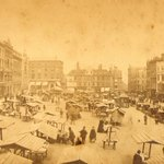 #ThrowbackThursday An old view of Norwich Market, in operation on the site for over 900 years #Norwich @MarketNorwich http://t.co/3BhfG4cbZs