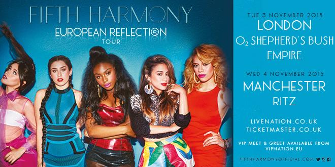 PRE-SALE: Tickets for @FifthHarmony's London & Manchester shows are on pre-sale now. Go go go! http://t.co/sYzNP11aHU http://t.co/tEnrSKfJeC