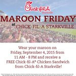 Were doing Maroon Friday the right way tomorrow. #HailState http://t.co/Dh9D5pf2Sn