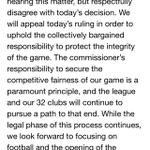 .@nflcommish makes a statement on Brady's suspension being nullified. He respectfully disagrees http://t.co/XJ1kCmBJQo