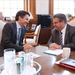 Great working visit with my friend @deniscoderre today. Productive talk about our plan to invest in Montreal. http://t.co/T6HfPXqsLw