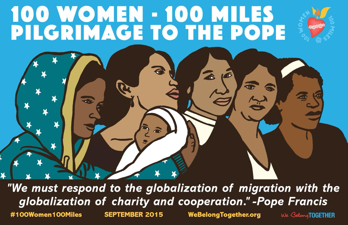 Retweet to share this gorgeous artwork for the #100Women100Miles Pilgrimage feat. a quote from @Pontifex #PopeinUS http://t.co/XLQoHHQ7Qt