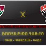 Logo mais, às 16h30, o @ECVitoria enfrenta o @FluminenseFC na partida de ida da final do Brasileiro Sub-20 #PEGALEÃO http://t.co/Yd0arWwyj3