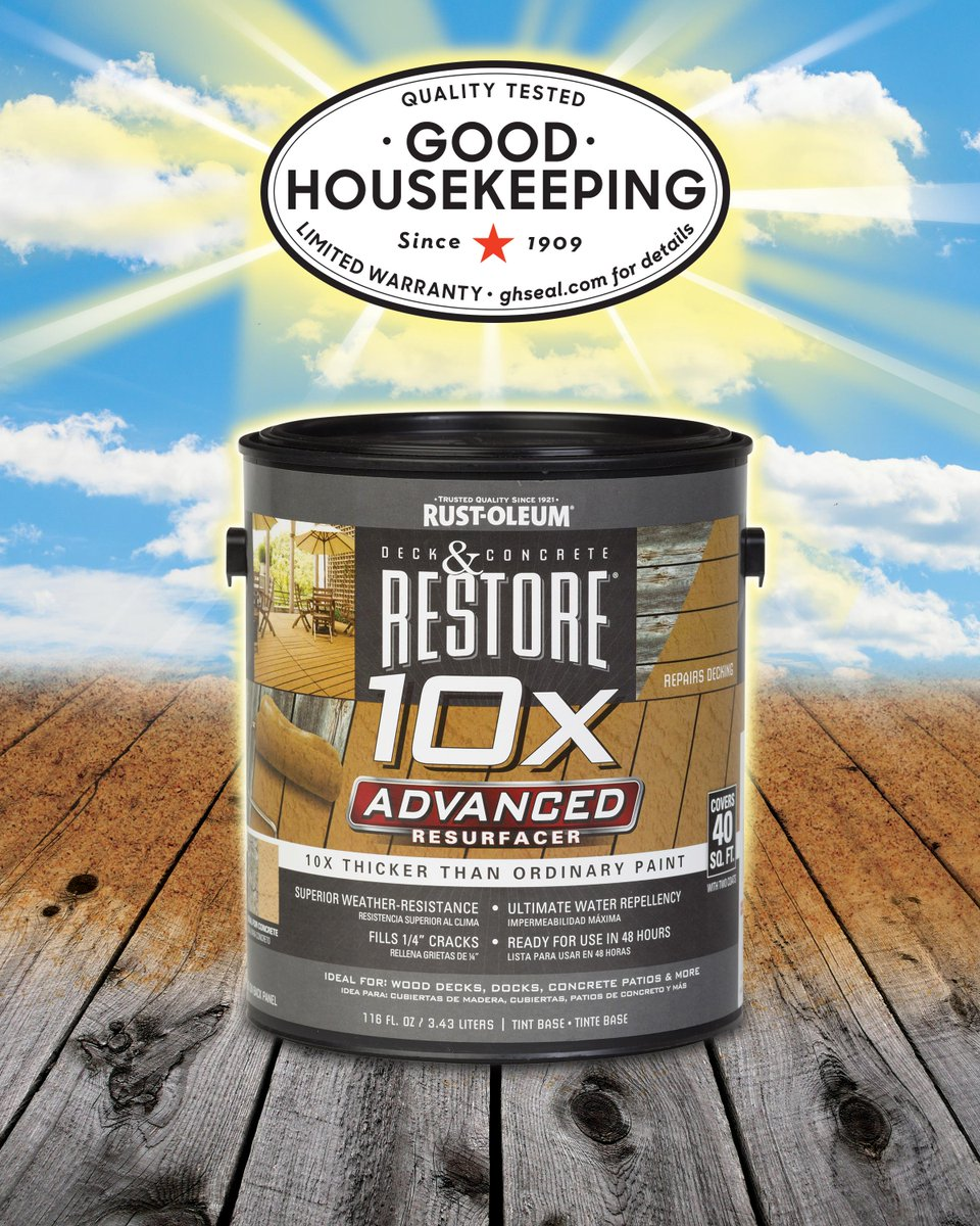 Did you hear? Restore 10X Advanced deck resurfacer earned the @goodhousemag seal!  http://t.co/GFIJi6sOoN http://t.co/VRWiWjPqCm