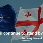 .@jensstoltenberg looks forward to deepen #NATO-#Georgia close coop http://t.co/mo6E7qc7GQ @MargvelashviliG http://t.co/WnjigvMXPz