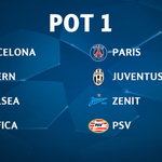 One to favourite. The #UCLdraw pots ... http://t.co/thOXX0g6FZ
