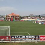 #RAPL opening ceremony (4th season) in #Kabul. A huge crowd of football lovers already in, many many more entering. http://t.co/DaP4kE21vK