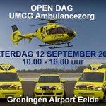 Zelf achter de knoppen van de @MeldkamerNN Ambulancezorg? Dat kan op 12 september op Groningen @AirportEelde #opendag http://t.co/bKWBjN0nd2