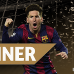 Congratulations, Lionel Messi - winner of the 2014/15 #UEFABestGoal! http://t.co/G0dhnbsDYb http://t.co/OdZSPUvjEt