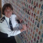 Surrey Chief Constable Lynne Owens designs her Friendly at Christophers. We are Surrey Polices charity of the year. http://t.co/ltSBAEBHO3