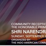 #ModiInUSA @IndianEmbassyUS: Community Reception 4 PM @narendramodi on Sept 27 at SanJose, CA https://t.co/iKwTywnDIX http://t.co/WwSKVjKHO2
