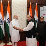 Mr. Mohammed Nasim, Bangladeshs Minister for Health interacting with PM @narendramodi. http://t.co/m4GrK1nJmN