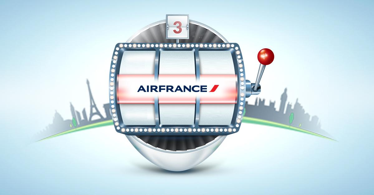 Umbrellas, travel bags, pouches, oh my! Spin for a chance to win Air France merch!