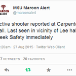 #BREAKING: Suspected shooter on Mississippi State campus in custody. Watch #CBS46 News http://t.co/wrk7EHrO8u http://t.co/CvjWNY0o7B