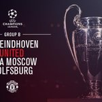 #mufc have been drawn against PSV Eindhoven, CSKA Moscow and Wolfsburg in Group B of the @ChampionsLeague. http://t.co/UVPUQUaZ5E