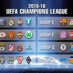 【組み合わせ決定】2015-16UEFAチャンピオンズリーグ グループリーグの組み合わせが決定しました! @UCL_HighLight http://t.co/2nKXEuKJXu http://t.co/E5mFXQBF2V