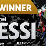 Lionel Messi is crowned the 2014/15 #UEFABestPlayer in Europe! Congratulations! http://t.co/dko39hXbnp