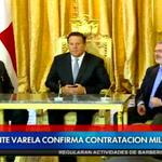 #EnDirecto Presidente @JC_Varela confirma contratación Millonaria http://t.co/yn30m1vwBD http://t.co/coWoOGv7a8