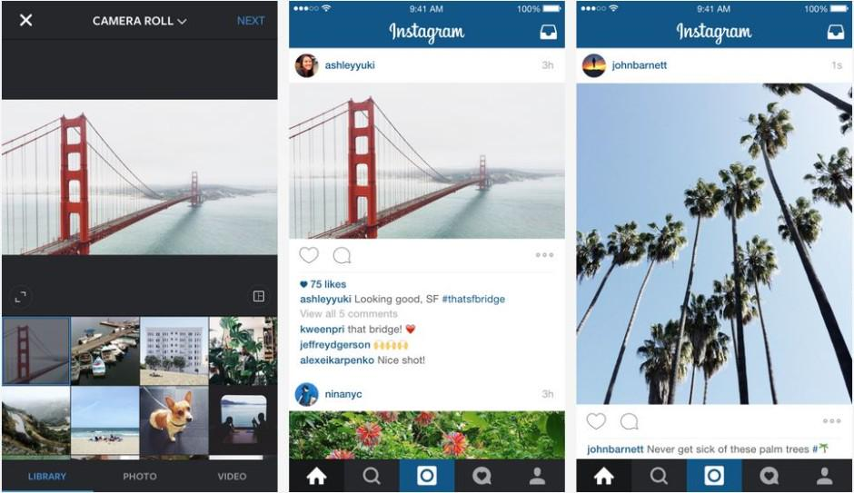 Instagram won't force you to be square anymore http://t.co/IaT1IUliXy http://t.co/wHi3TKvlji