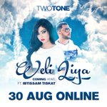 Coming home!! Weli Liya Two Tone feat @IbtissamTiskat out on 30-8 ولي لي!!! استعدو لديو توتون مع ابتسام يوم 30 غشت. http://t.co/6qglRry1Wz