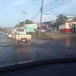 Calle 1ra Monte Oscuro, completamente inundado y tapado hace 3 dias @IDAANinforma @tvnnoticias http://t.co/qD5XbBrdWR