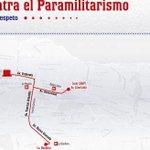 #VenezuelaExigeRespeto | ¡GRAN MARCHA! en contra del paramilitarismo y en defensa de la paz #PARTICIPA (+MAPA) http://t.co/4qx5ng7WhN