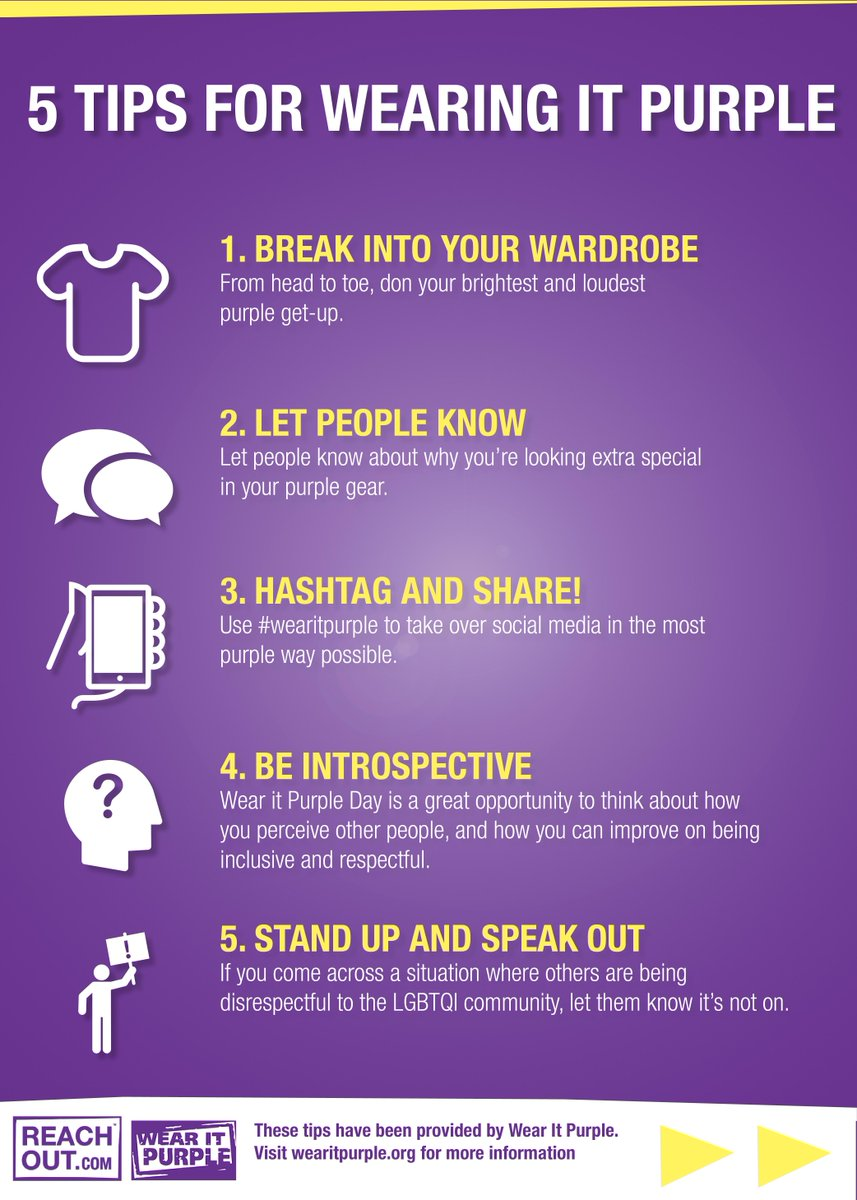 5 tips for making the most of #WearItPurple day: http://t.co/G2mTFNBLqm