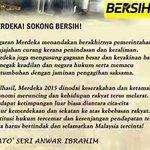 Perutusan Hari Merdeka dari DSAI kepada seluruh rakyat Malaysia..#Bersih4 http://t.co/n0N7MZhIcf