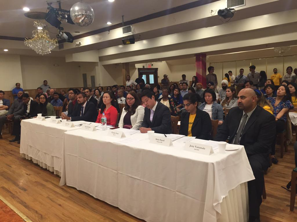 Our #cd23 debate panelists @aaldef @ChhayaCDC @MinKwonCenter @CitizensUnionNY @CivicLeaders @thenyic @sacssny @KCSNY http://t.co/HWPt6ZBm8Y