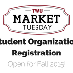 Register your #TWU student organization for Market Tuesday! http://t.co/8EgSLJewXi http://t.co/TIpLQQzawG
