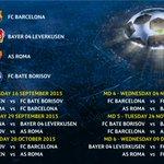 Group E: match by match. #UCLdraw http://t.co/yy3mXSenAs