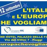 Una nuova classe dirigente x #Roma A @FiuggiPPE2015 dibattito su futuro di #Roma con @Antonio_Tajani @Alfio_Marchini http://t.co/H0PlfC52XM