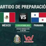 ¡OFICIAL! México vs Panamá el próximo 13 de octubre en el Nemesio Diez. #VamosPanamá @TReporta http://t.co/z8tS5nrZY5