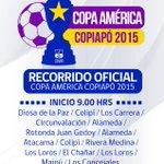 Alcalde @MaglioCicardini, y organización del evento, acordaron recorrido por diversos sectores con la Copa América. http://t.co/BYLeR6Pxg1