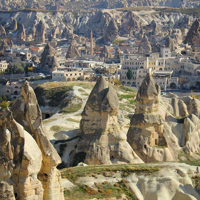 The town of #Goreme in #Cappadocia is surrounded by peculiar fairy chimneys and colourful canyons. It's one of the … http://t.co/rkisqK65sD