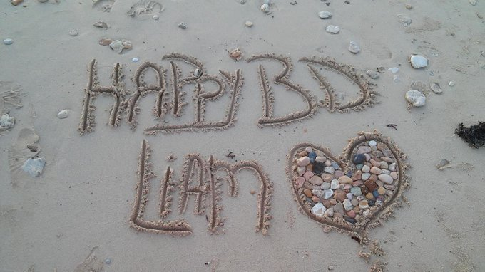 Happy birthday to the sweetest liam in the whole entire world<3 from Egypt