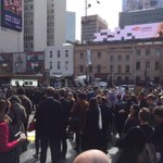 Its mainly protesters at Flinders Street Station. http://t.co/IxdQ9ZbOQh