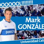 Min 8 ¡GOOOOOOOOL! Mark González marca el primero para la UC tras tiro libre. #UCvsLIB #LosCruzados http://t.co/MYNXp9bqCm