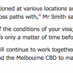 hold on, the border force is going to stand at Flinders St station checking peoples visas? http://t.co/VOBlES58F8