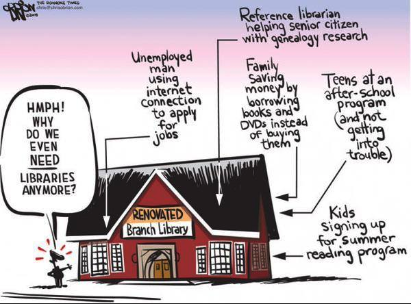 Why do we need Libraries? Good question. Good answer. http://t.co/wlNTa4DmRk