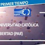 ¡Termina el primer tiempo! 2 a 0 el marcador a favor de Católica ¡Vamos UC!  #UCvsLIB #LosCruzados http://t.co/LmPIDSpLmx