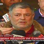 AHORA | Camioneros se refieren a la manifestación en Santiago. Dicen que fueron recibidos violentamente. http://t.co/FPm1a5NCcA